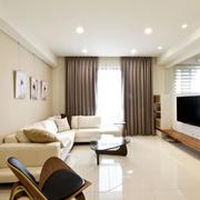 64平米北欧风格家居米黄色客厅装修图