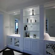 三居室现代欧式风格酒柜装修效果图实例