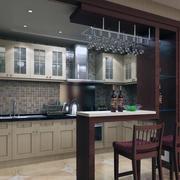 经典的现代欧式小户型室内吧台装修效果图