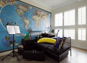 混搭现代90平米三居室房屋装修效果图