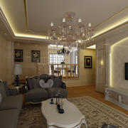 客厅精致水晶吊灯图片