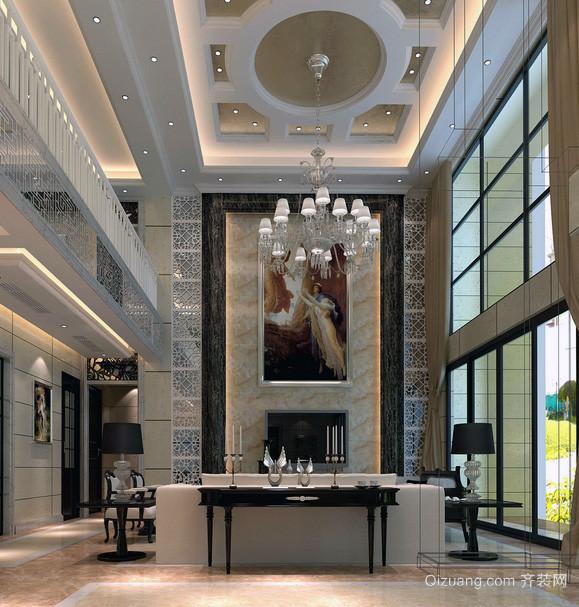 欧式风格精美的现代复式楼室内装修效果图