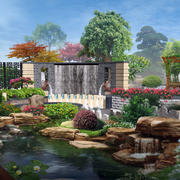 2016经典别墅庭院设计装修效果图实例