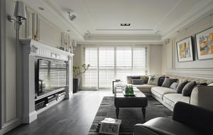 90平米客厅百叶窗帘