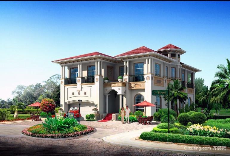 经典独特的现代农村别墅外观设计效果图