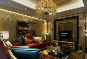 2016大户型精美的欧式客厅背景墙装修效果图
