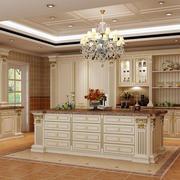 豪华欧式风格别墅厨房橱柜效果图