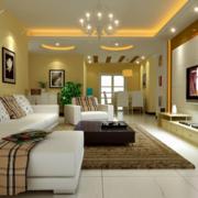现代经典欧式风格单身公寓装修效果图