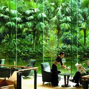 酒店东南亚自然餐厅展示
