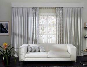 大户型现代欧式风格室内飘窗窗帘装修效果图