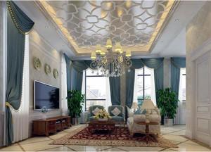 欧式风格别墅型精致的窗帘装修效果图