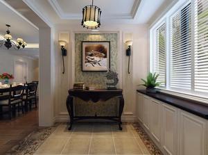 三室一厅现代美式风格玄关装修样板房