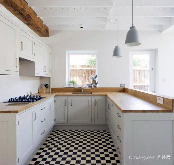 别墅型欧式开放式厨房装修效果图实例欣赏