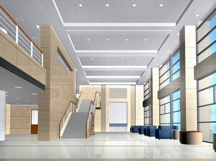 经典独特的现代大户型欧式楼梯装修效果图