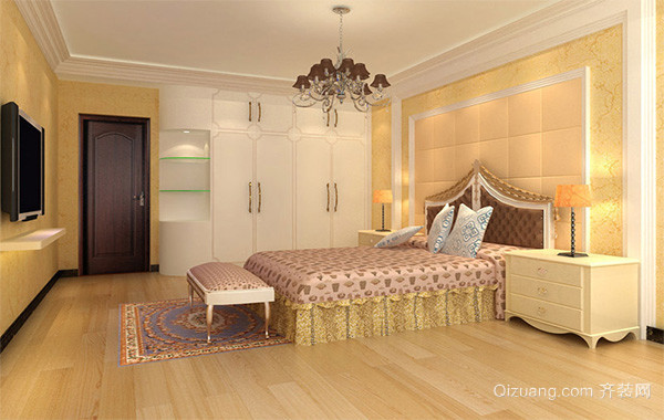 小户型欧式卧室背景墙装修设计效果图实例