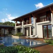 2016新中式独栋别墅装修设计效果图