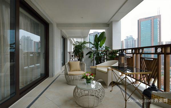 休闲舒适的大户型家居阳台装修效果图