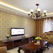 美式风格客厅液体壁纸