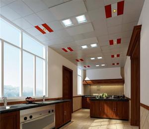 宜家实用的厨房铝扣板吊顶图片