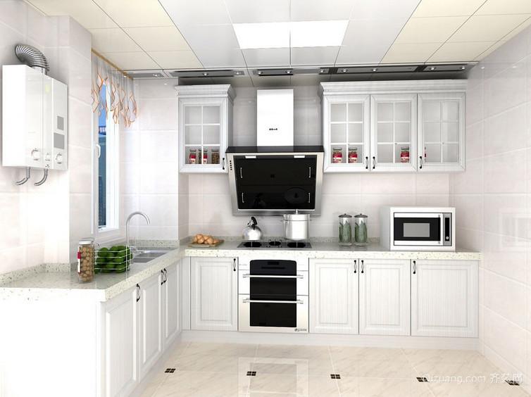 现代两居室厨房白色橱柜装修效果图