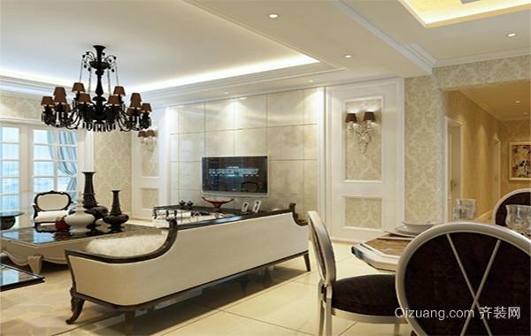 2016别墅型客厅电视背景墙装修效果图鉴赏