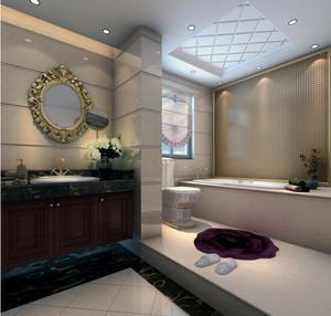独特的欧式风格大户型卫生间装修效果图