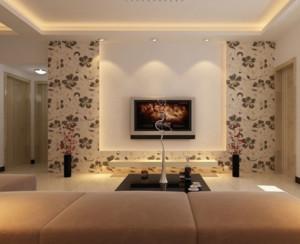 现代欧式硅藻泥电视背景墙装修效果图鉴赏