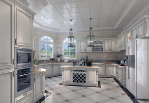 现代都市大户型简欧风格厨房装修效果图
