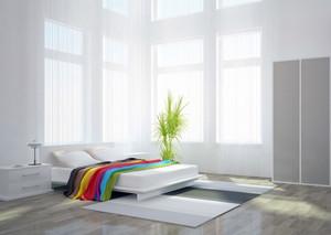 2016小户型简单欧式卧室背景墙装修效果图