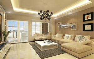 欧式风格家庭室内客厅背景墙装修效果图