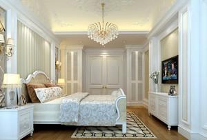 白色大卧室简欧现代水晶吊灯图片