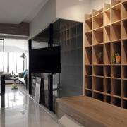 小户型实木置物柜设计