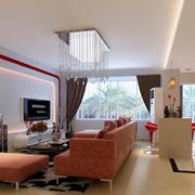 83平米小客厅时尚电视机背景墙效果图