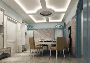 小型复式楼精致餐厅吊顶效果图