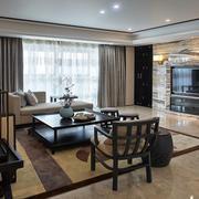 精致中式客厅家具布置