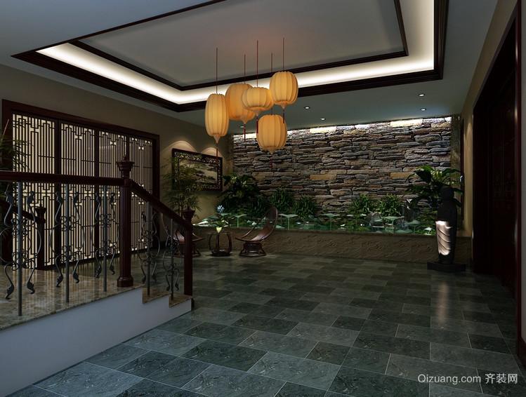 东西方完美结合的混搭大别墅装潢设计图