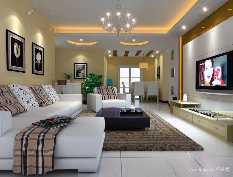 2016美式风格复式楼客厅装修效果图