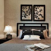 中式卧室床头装饰画