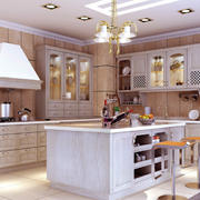 幸福生活之简欧厨房装修设计效果图