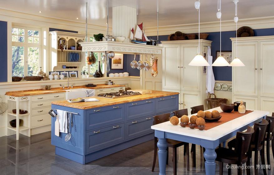 小别墅精致前卫厨房装修设计效果图