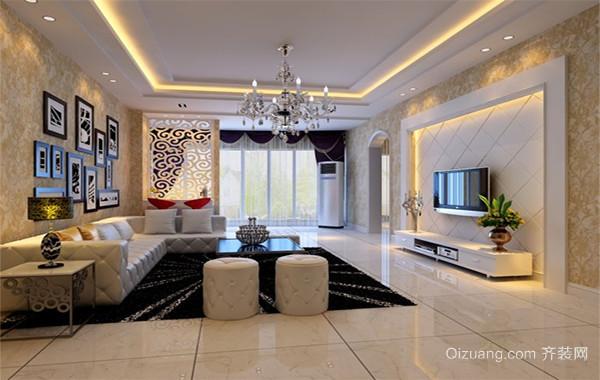 极品奢华大户型欧式风格客厅装修壁纸效果图