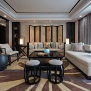 中式客厅沙发背景欣赏