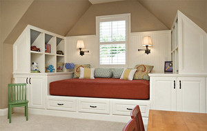 现代欧式大户型斜顶阁楼室内装修效果图