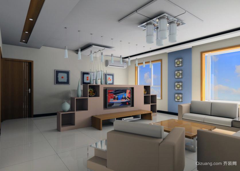 欧式别墅室内电视机背景墙设计装修效果图