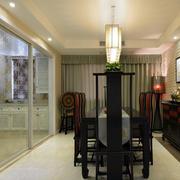 中式餐厅实木餐桌椅