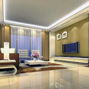 欧式风格大户型客厅电视背景墙装修效果图