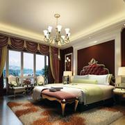 别墅型美式装修风格样板房卧室装修效果图鉴赏