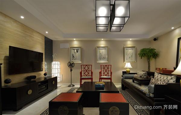 2016新中式144平米三居室装修效果图