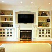 朴素公寓客厅电视机背景墙效果图