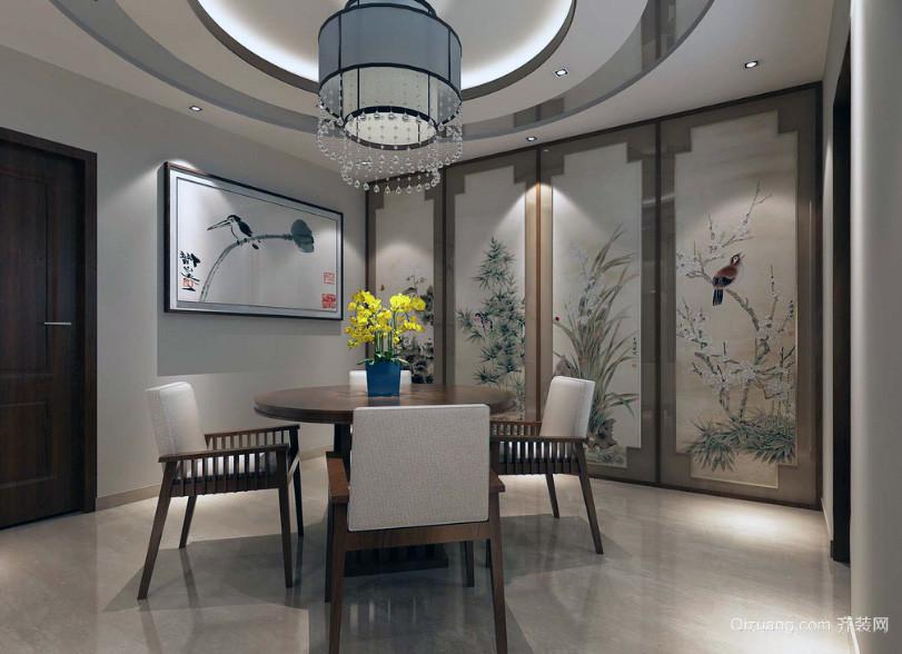 现代精致的大户型中式餐厅装修效果图